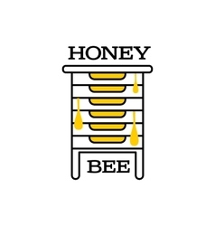 Hand-drawn bee hive logo for honey products vector image