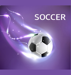 soccer football tournament poster vector image