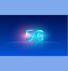 5g internet technology background design eps10 vector
