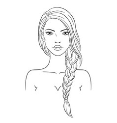 A beautiful young woman vector