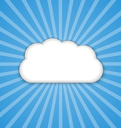 abstract background cloud in blue sky with sun vector image