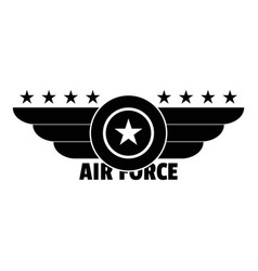 Air force logo simple style vector