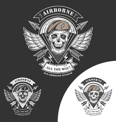 airborne 82 vector image