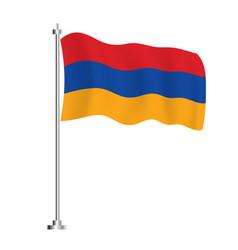 Armenian flag isolated wave flag armenia vector
