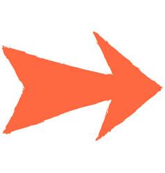 arrow sign sketch drawing vector image