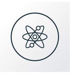 Atomic energy icon line symbol premium quality vector