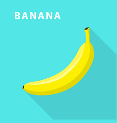 banana icon flat style vector image