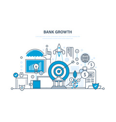 bank growth investment security deposits payment vector image