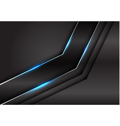 black metallic silver line blue light arrow dark vector image