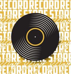 black vinyl record store day flat concept vector image