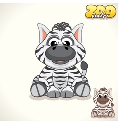 Cartoon Zebra Character vector image