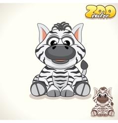 Cartoon zebra character vector