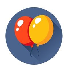 celebration balloons icon vector image