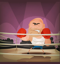 Champion boxer on the ring vector