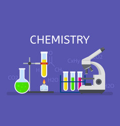 chemistry concept background flat style vector image