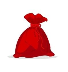 christmas bag santa claus vector image