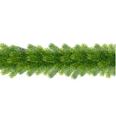 christmas borders from fir tree branches vector image