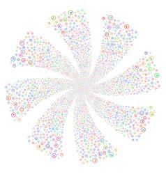 Clock fireworks swirl flower vector