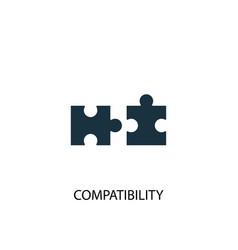Compatibility icon simple element vector