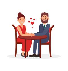 couple of lovers sitting at table in restaurant vector image