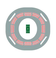 Cricket stadium icon vector