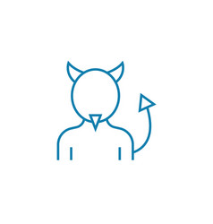 devil costume linear icon concept devil costume vector image