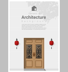 Elements of architecture front door background 6 vector