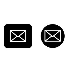 email message envelope icon set vector image