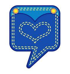 Emblem pocket icon flat style vector