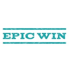 Epic Win Watermark Stamp vector image