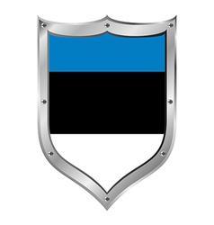 Estonia flag button vector image