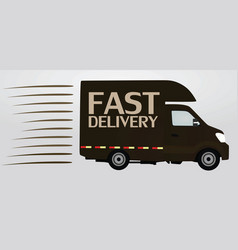 fast delivery icon truck vector image