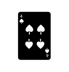 four of spades french playing cards related icon vector image