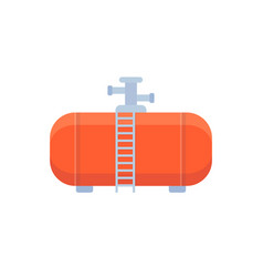 Gas tank industrial cylinder icon flat vector