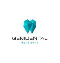 gems dental logo for dentist and dentistry vector image