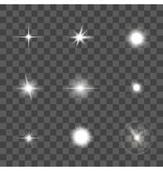 Glowing Light Effect Set vector image