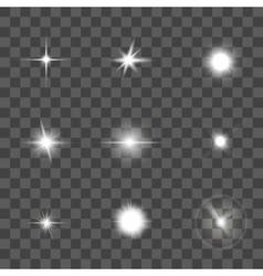 Glowing Light Effect Set vector