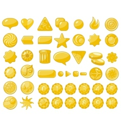 Golden web objects vector