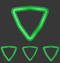 Green line triangle logo design set vector image