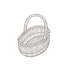 Hand drawn basket vector