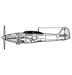 heinkel he 112 vector image