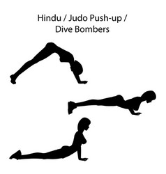 Hindu judo push up dive bombers exercise vector