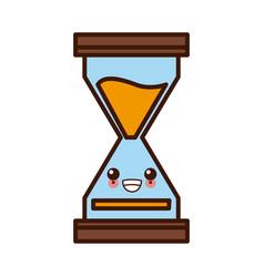 hourglass antique timer kawaii cute cartoon vector image