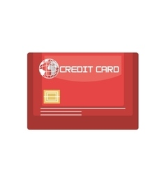 icon credit card travel vector image
