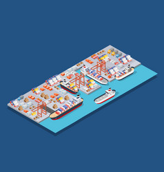isometric city boulevard vector image
