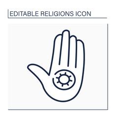 Jainism line icon vector