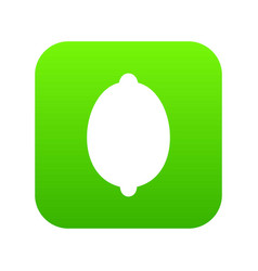lemon icon digital green vector image