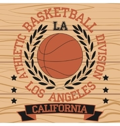 Los Angeles California sport vector image