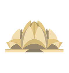 Lotus temple isolated vector