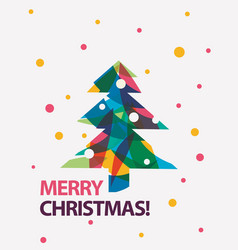 merry christmas card in modern vector image